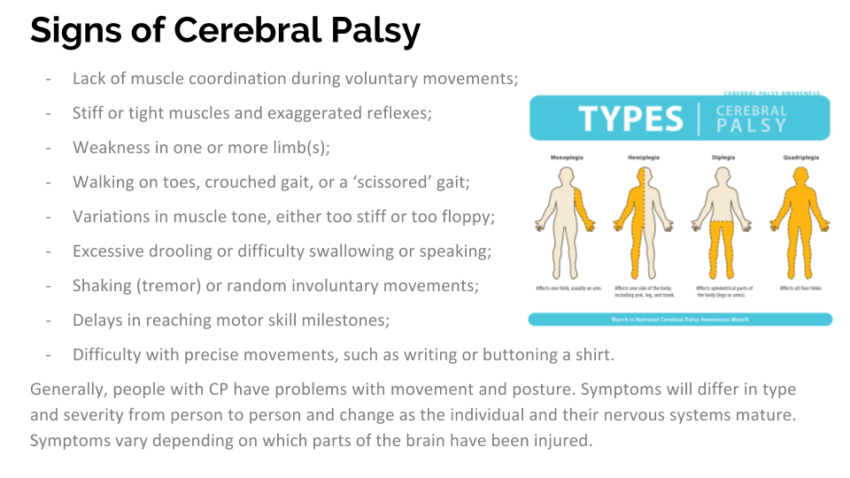 mild cerebral palsy signs